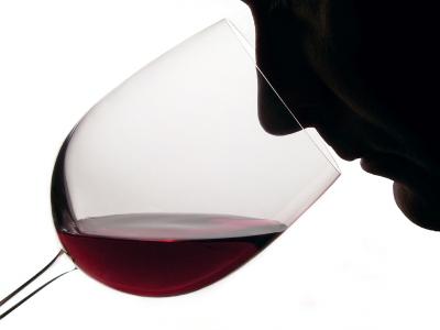 red wine tasting man